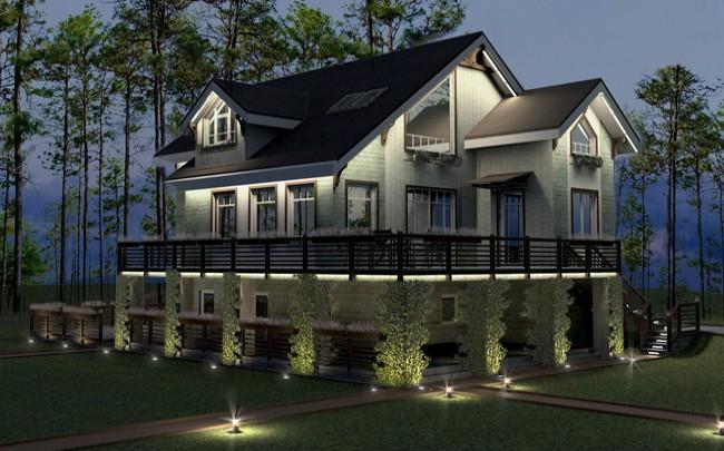 Проект экстерьеров фасадов загородного дома фасад