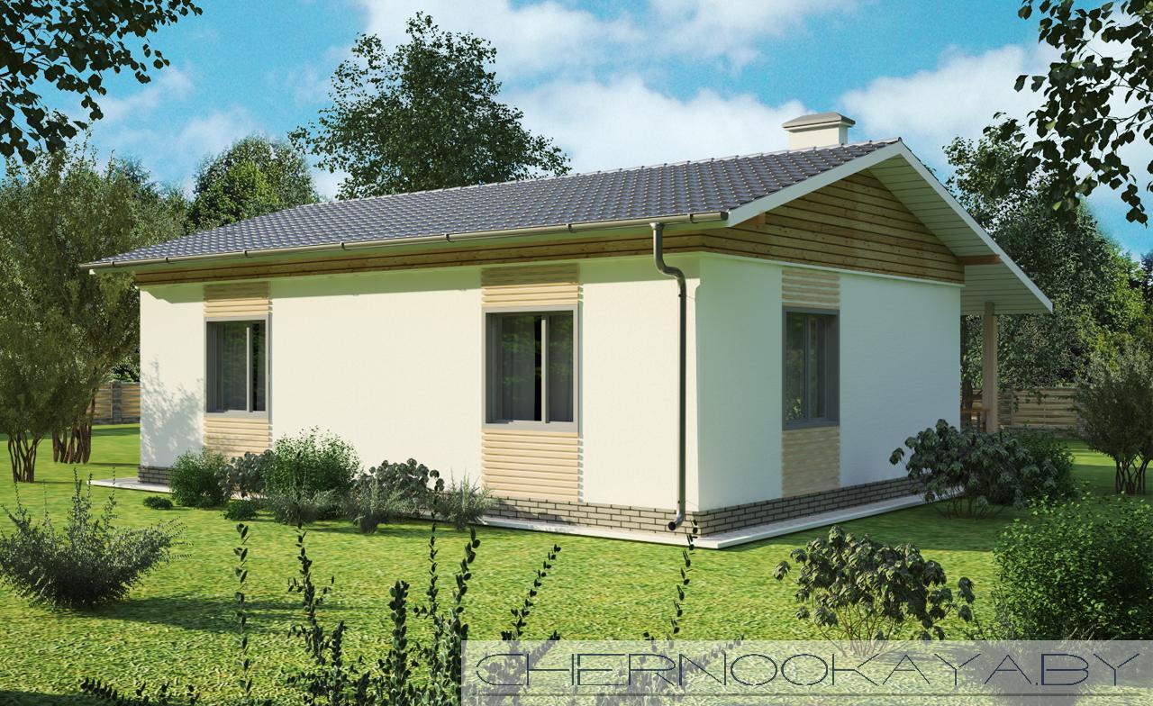 Проект дома 1550-2 одноэтажный жилой дом фасад
