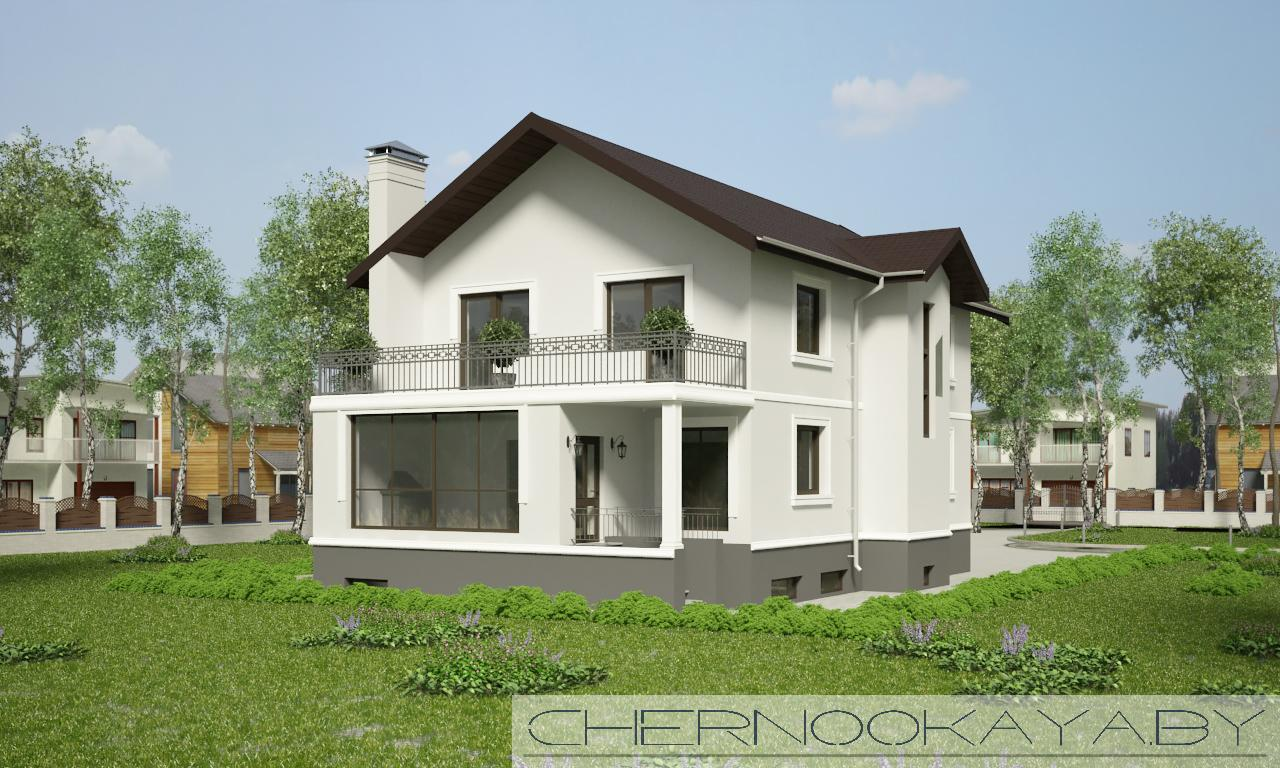 Проект дома 1533-10 с подвалом фасад