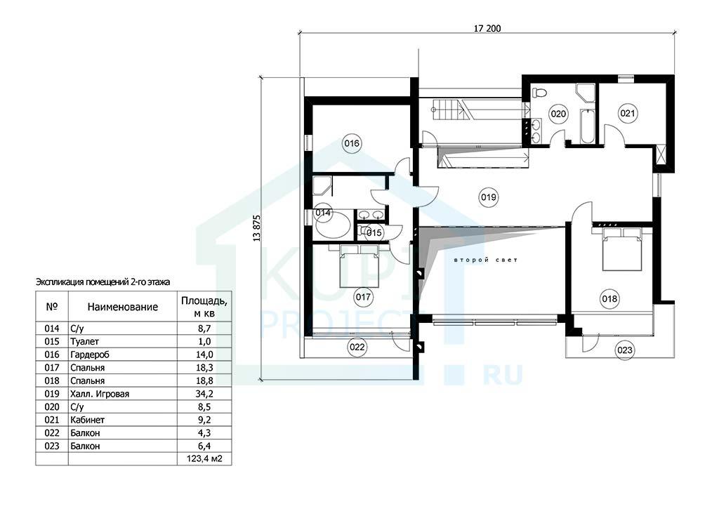 АР Проект Дома Хай-тек 25х15 план