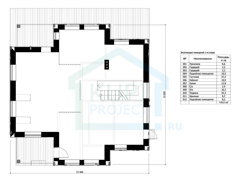 "Проект Дома 10х11 ""Параплан"" план"