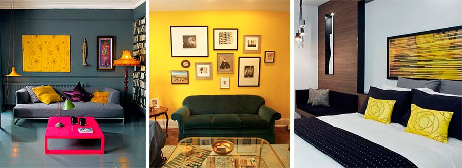 Психология и желтый цвет в дизайне интерьера Sourc