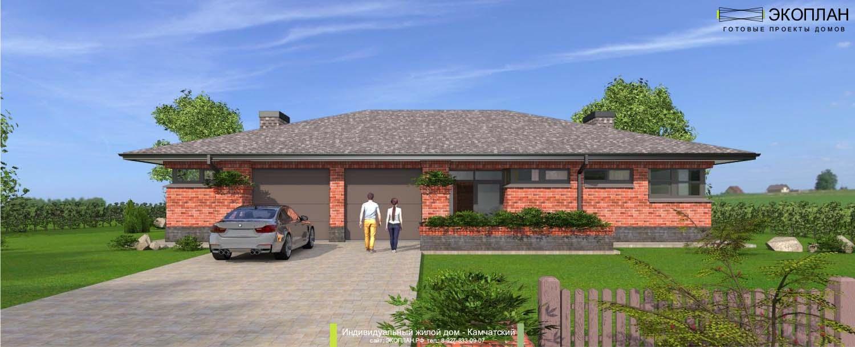 Готовый проект дома - Камчатский - Ульяновск фасад