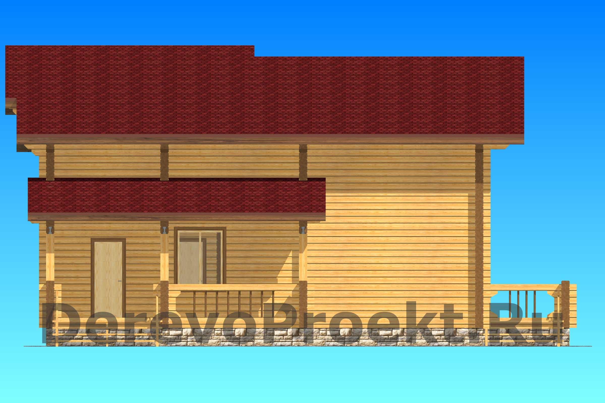 Проект дома 185м2 брус 220х180мм фасад