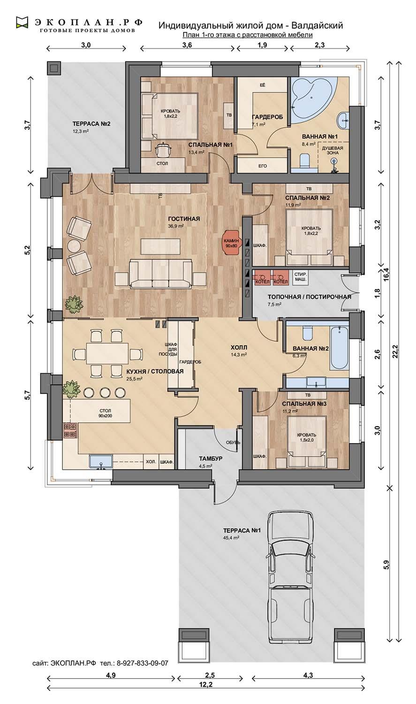 Проект дома - Валдайский - Экоплан план