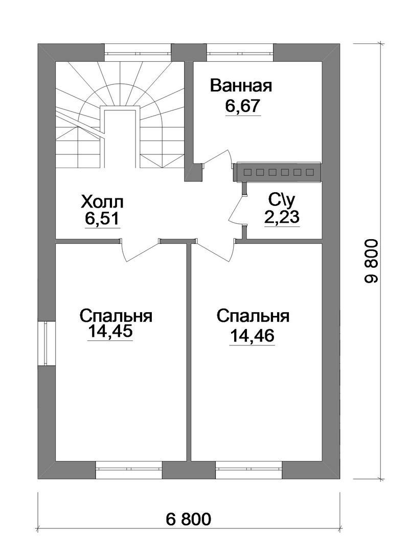Проект одноэтажного дома с мансардой план