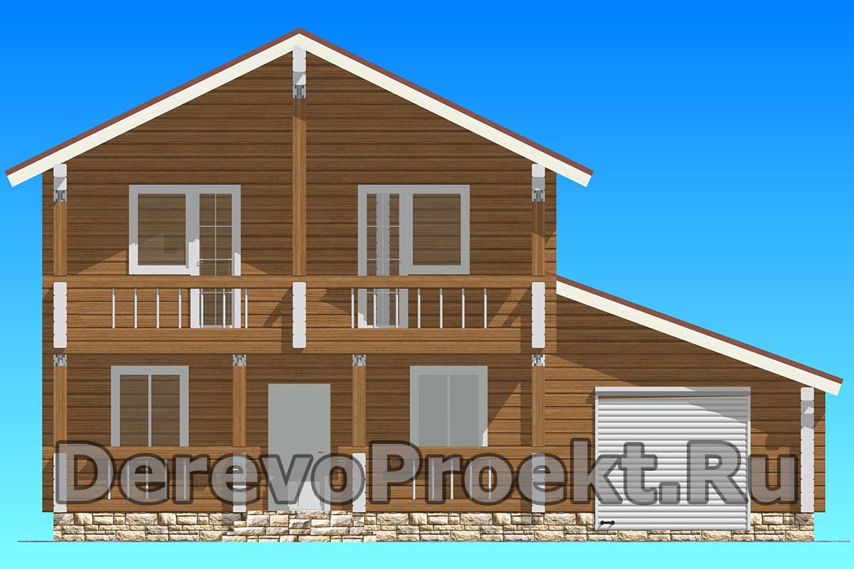 Проект двухэтажного дома 200м2 фасад