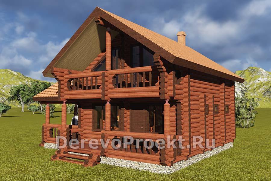 """Проект дома-бани """"Шоколадка"""" фасад"""