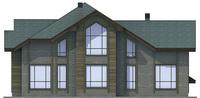 Проект кирпичного дома 36-92 фасад