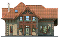 Проект кирпичного дома 36-95 фасад