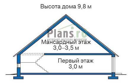 Проект кирпичного дома 37-02 план