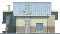 Проект кирпичного дома 37-03 фасад