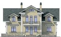 Проект кирпичного дома 37-11 фасад