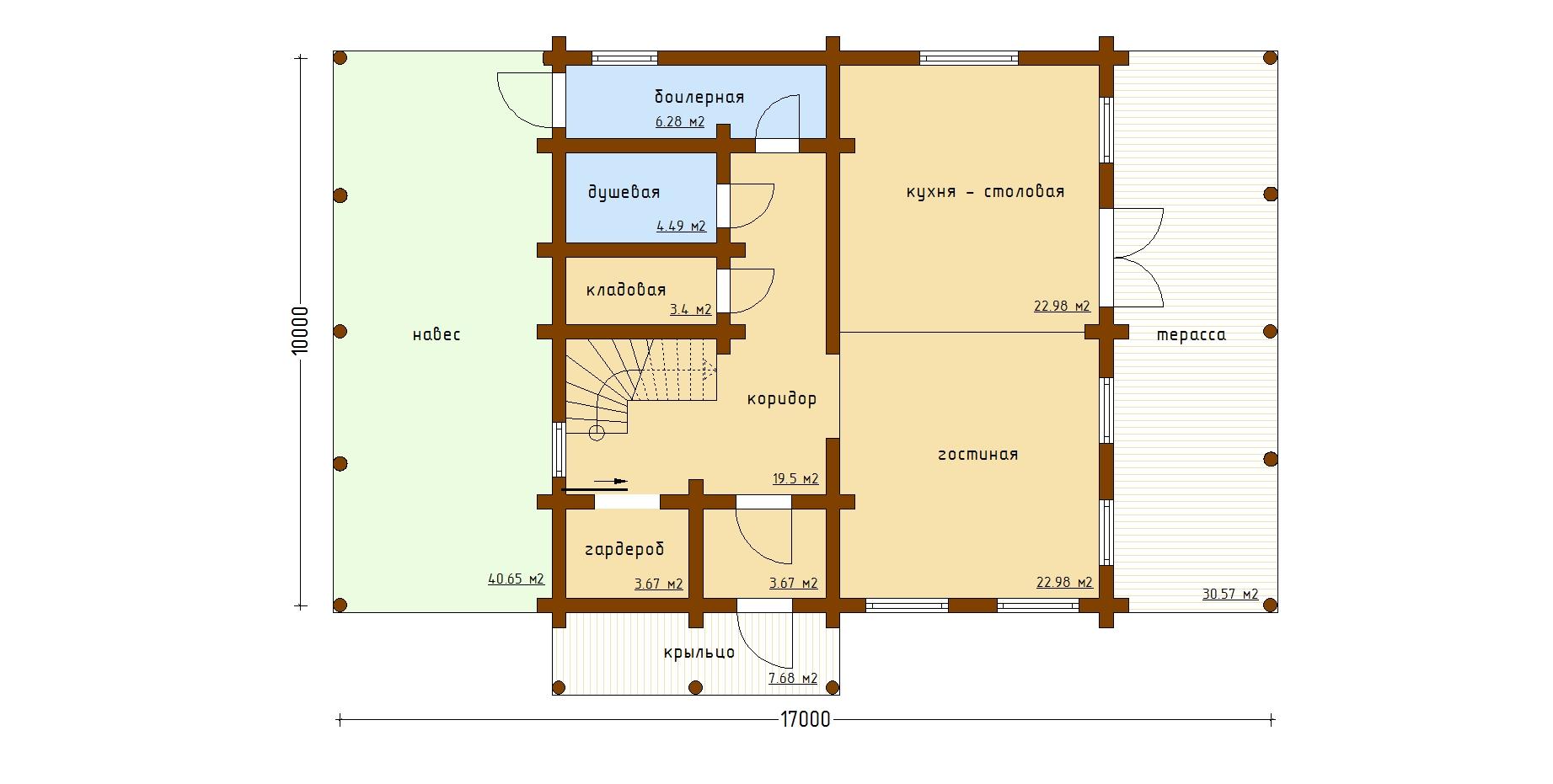 """Индивидуальный жилой дом """"Никитино"""" план"""