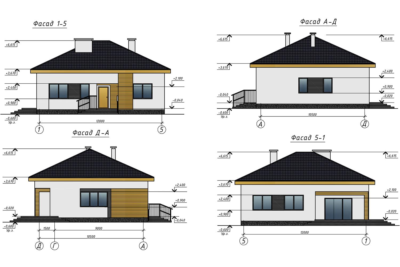 Проект А3052 фасад