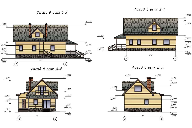 Проект В0883 фасад