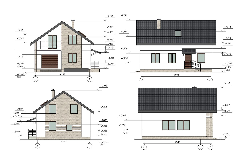 Проект В3093 фасад