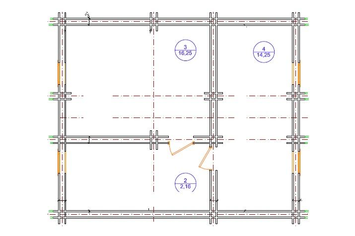 Дом по технологии двойной брус план