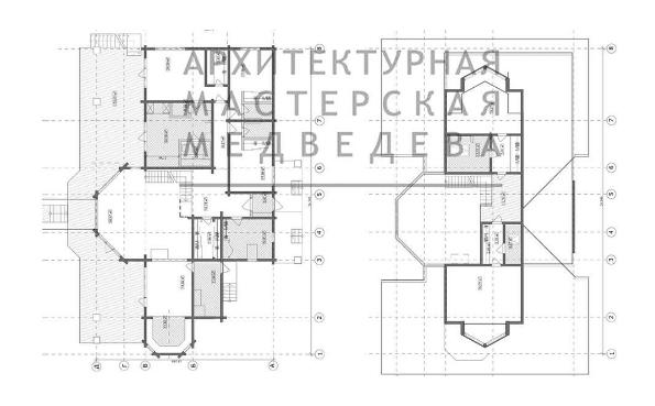 """Готовый проект жилого дома """"ПОМЕСТЬЕ"""" план"""