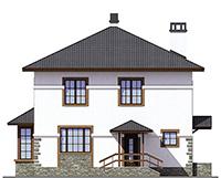 Проект кирпичного дома 42-71 фасад