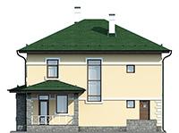 Проект кирпичного дома 42-72 фасад