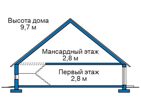 Проект кирпичного дома 42-72 план