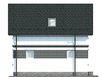 Проект кирпичного дома 42-75 фасад