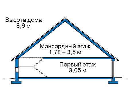 Проект кирпичного дома 42-75 план