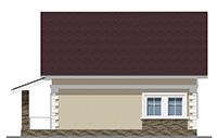 Проект кирпичного дома 42-76 фасад