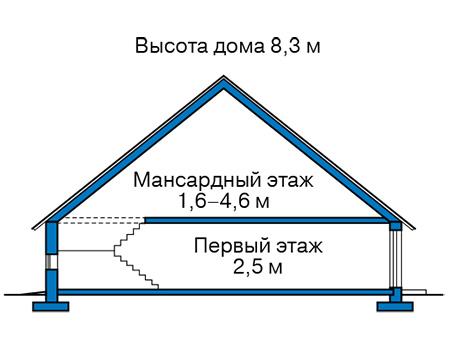 Проект кирпичного дома 42-76 план