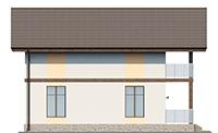 Проект кирпичного дома 42-77 фасад
