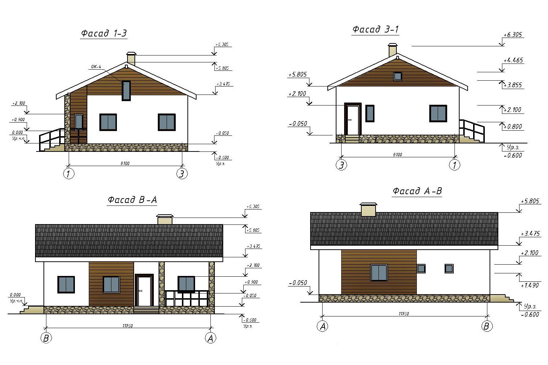 Проект А0802 фасад