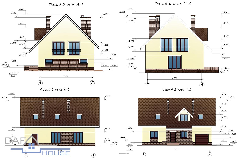 Проект В1354 фасад