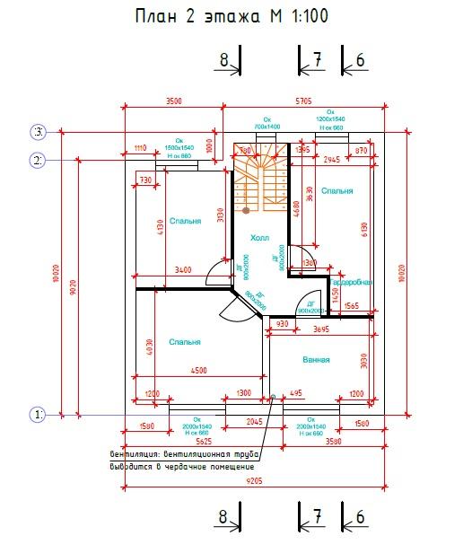 Индивидуальный жилой дом из керамоблоков план