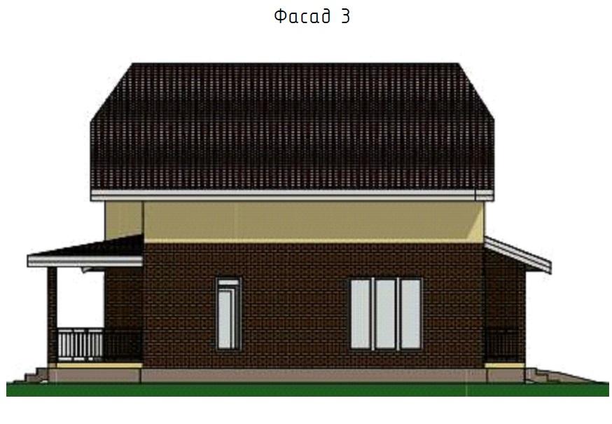 Индивидуальный жилой дом из керамоблоков фасад