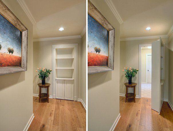 Потайные двери в интерьере
