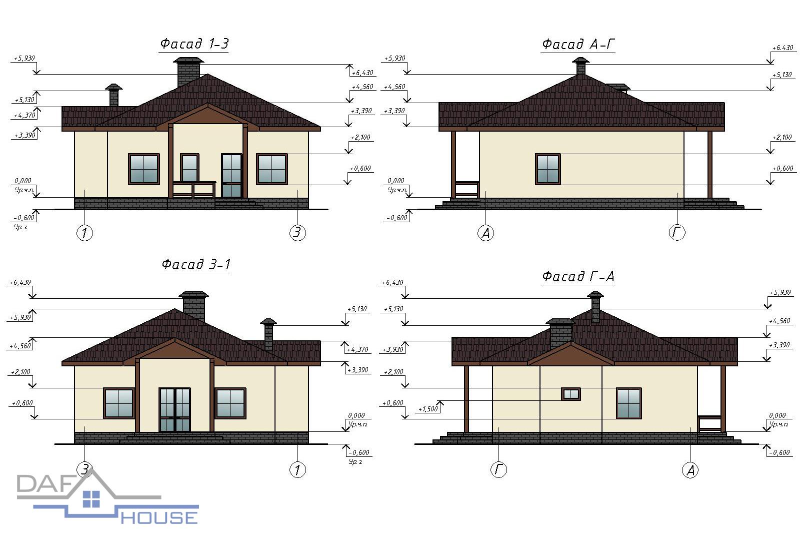 Проект А1642 фасад
