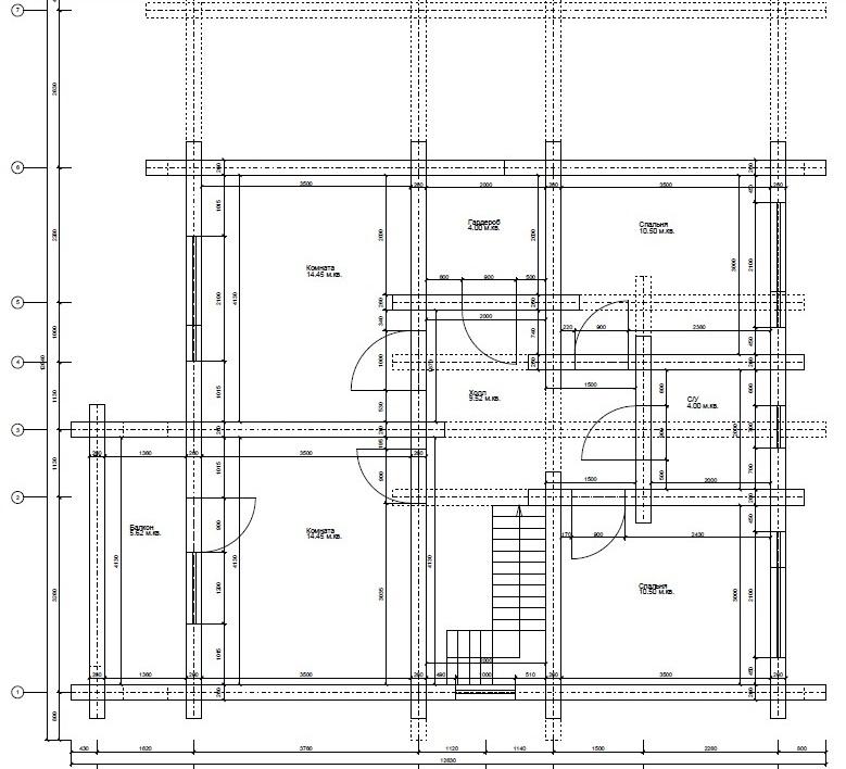 Дом из профилированного бруса план