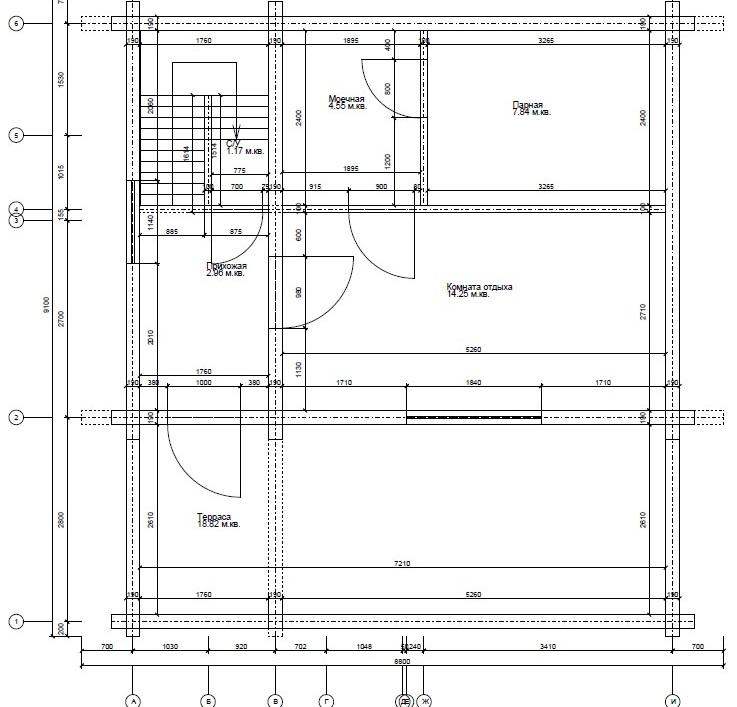 Брусовой дом план