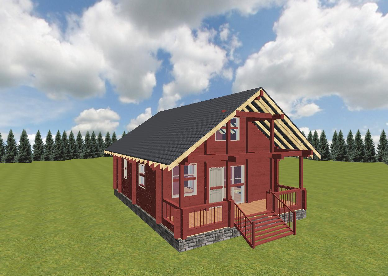 Дом из профилированного бруса фасад