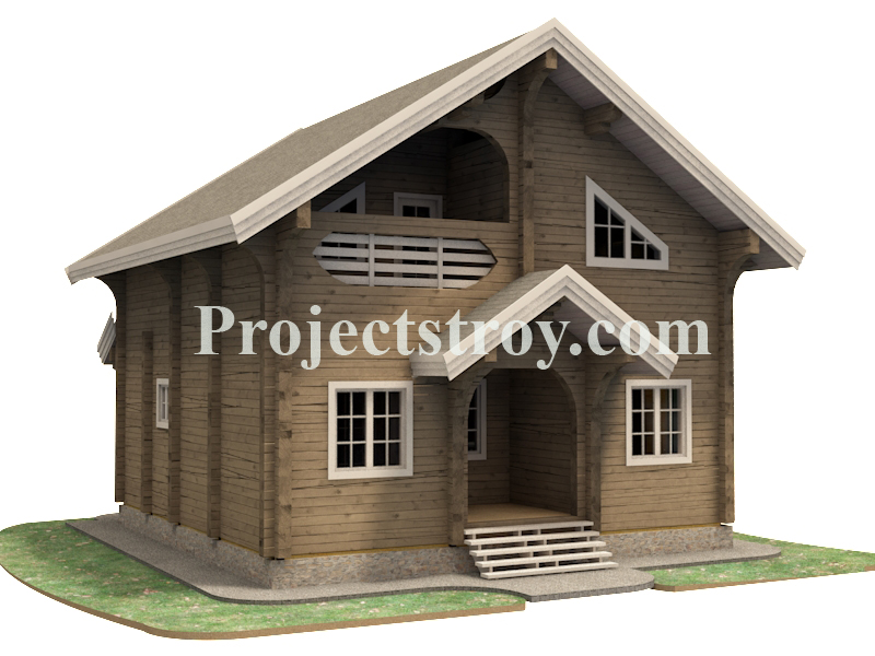 Скачать рабочую документацию на деревянный дом фасад