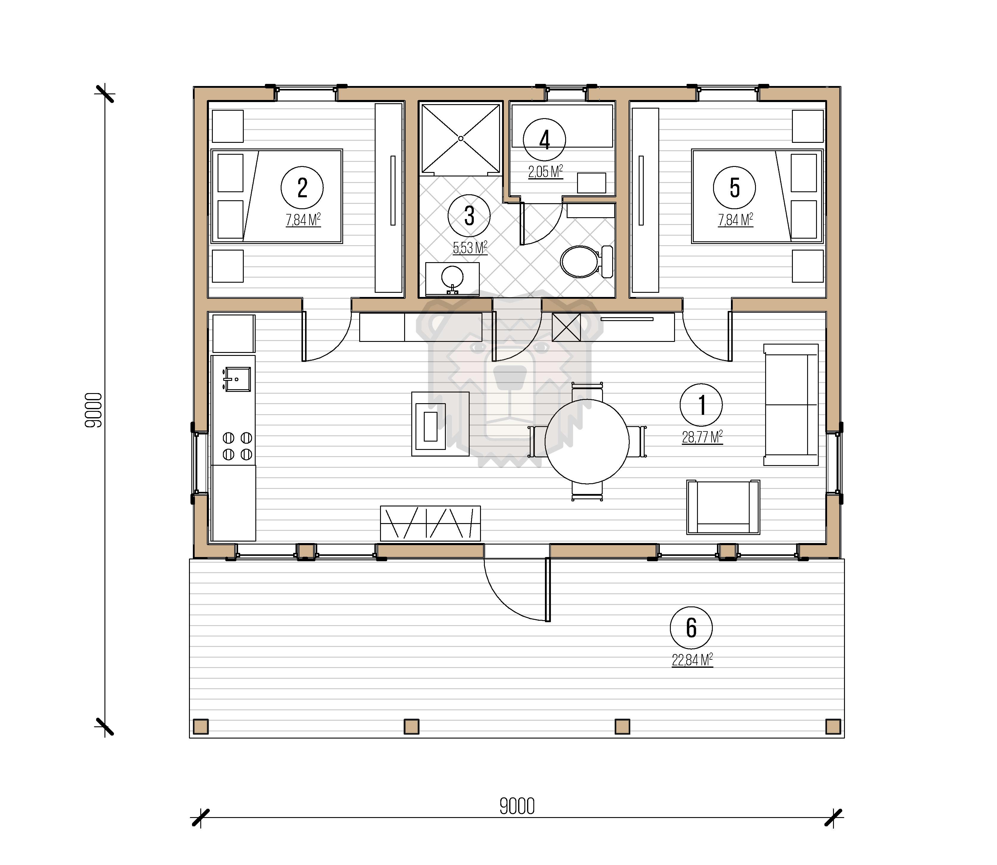 Гостевой дом план
