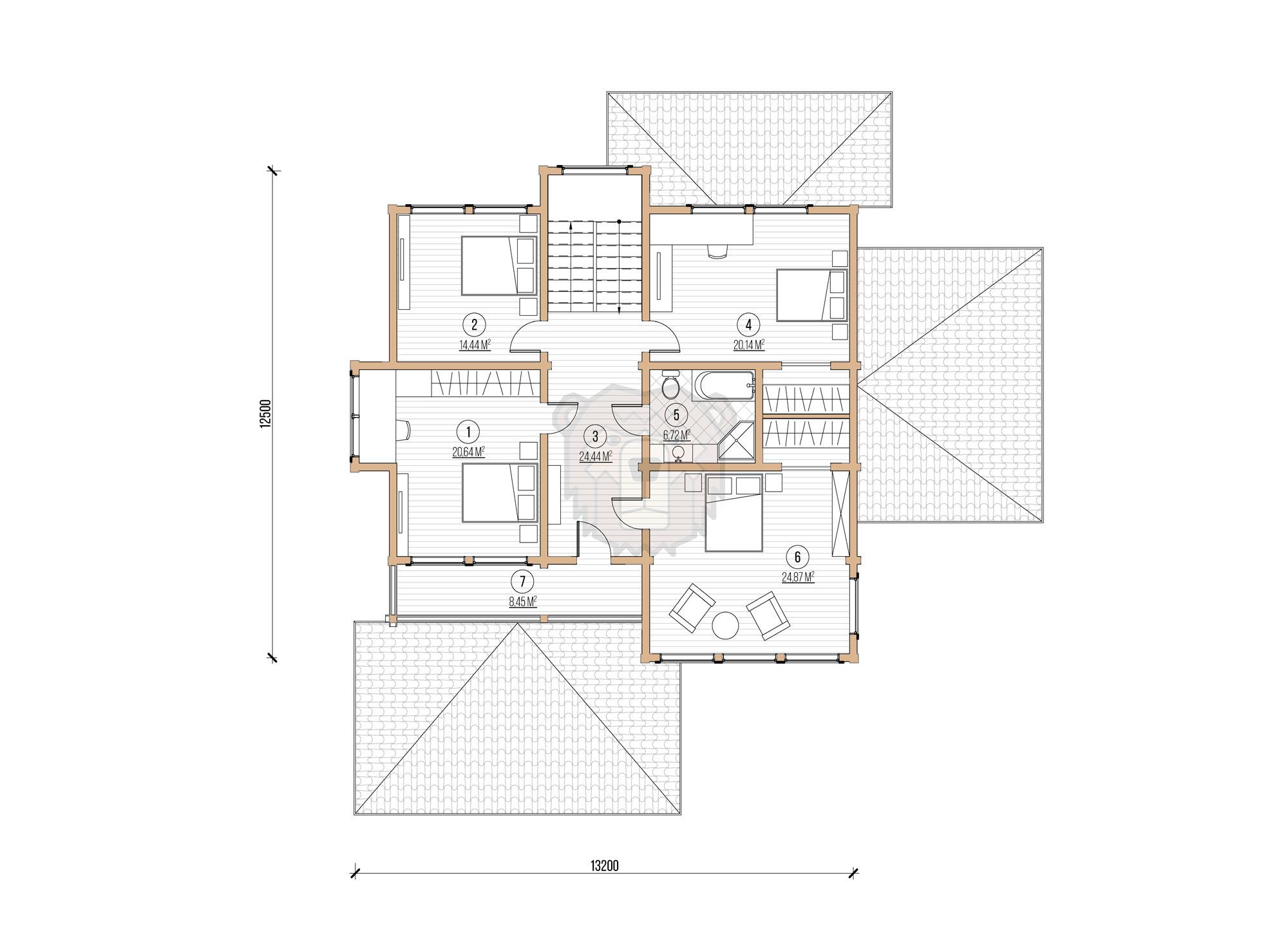 Дом в поселке Морские Террасы план