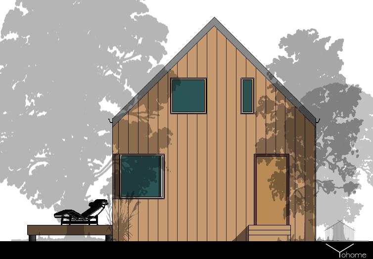 Загородный дачный дом фасад