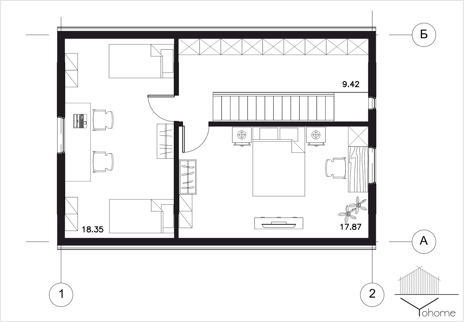 Загородный дачный дом план