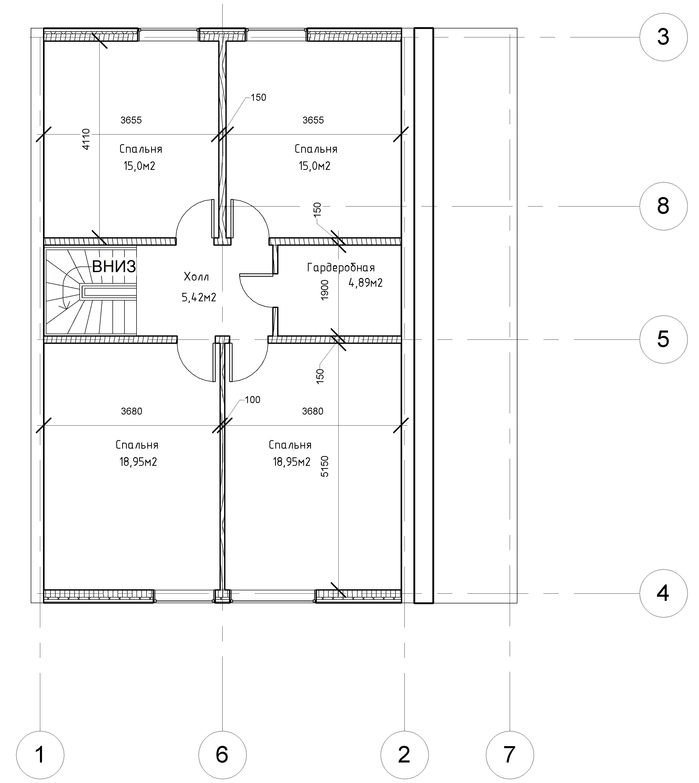 Проект каркасного дома. план