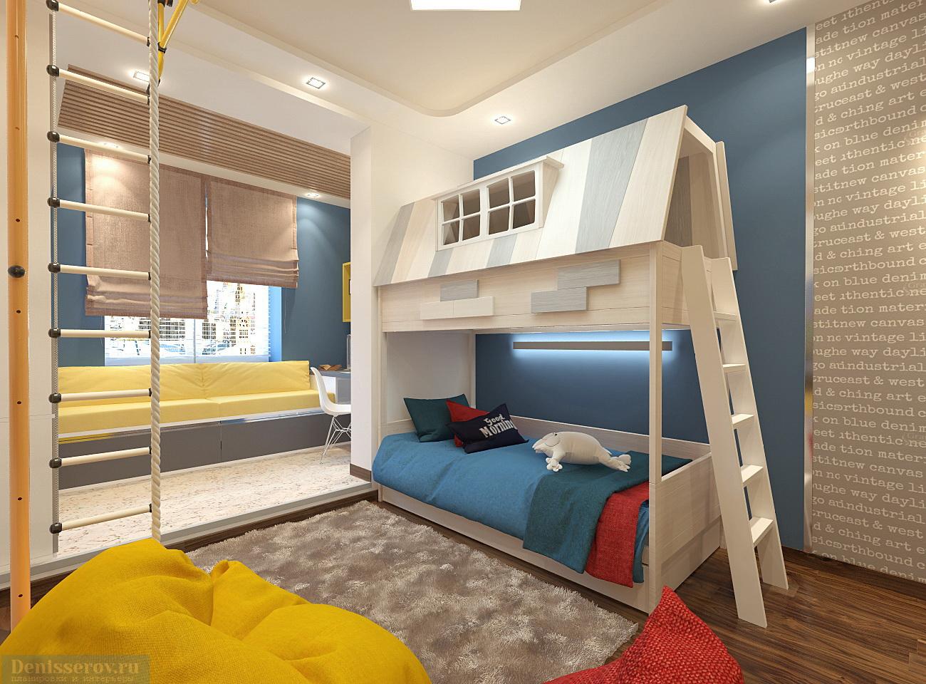Детская комната для мальчика дизайн 6 кв.м