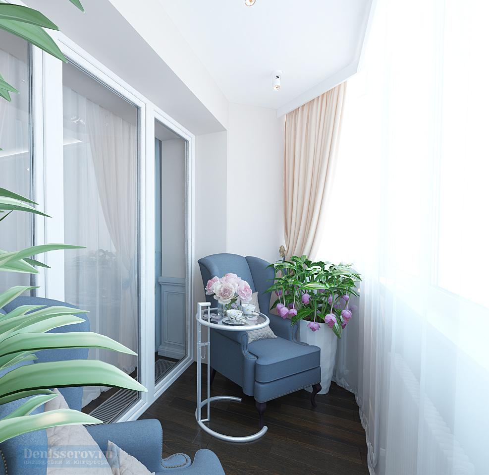 Гостиная 20 кв. м с балконом в классическом стиле с элемента.