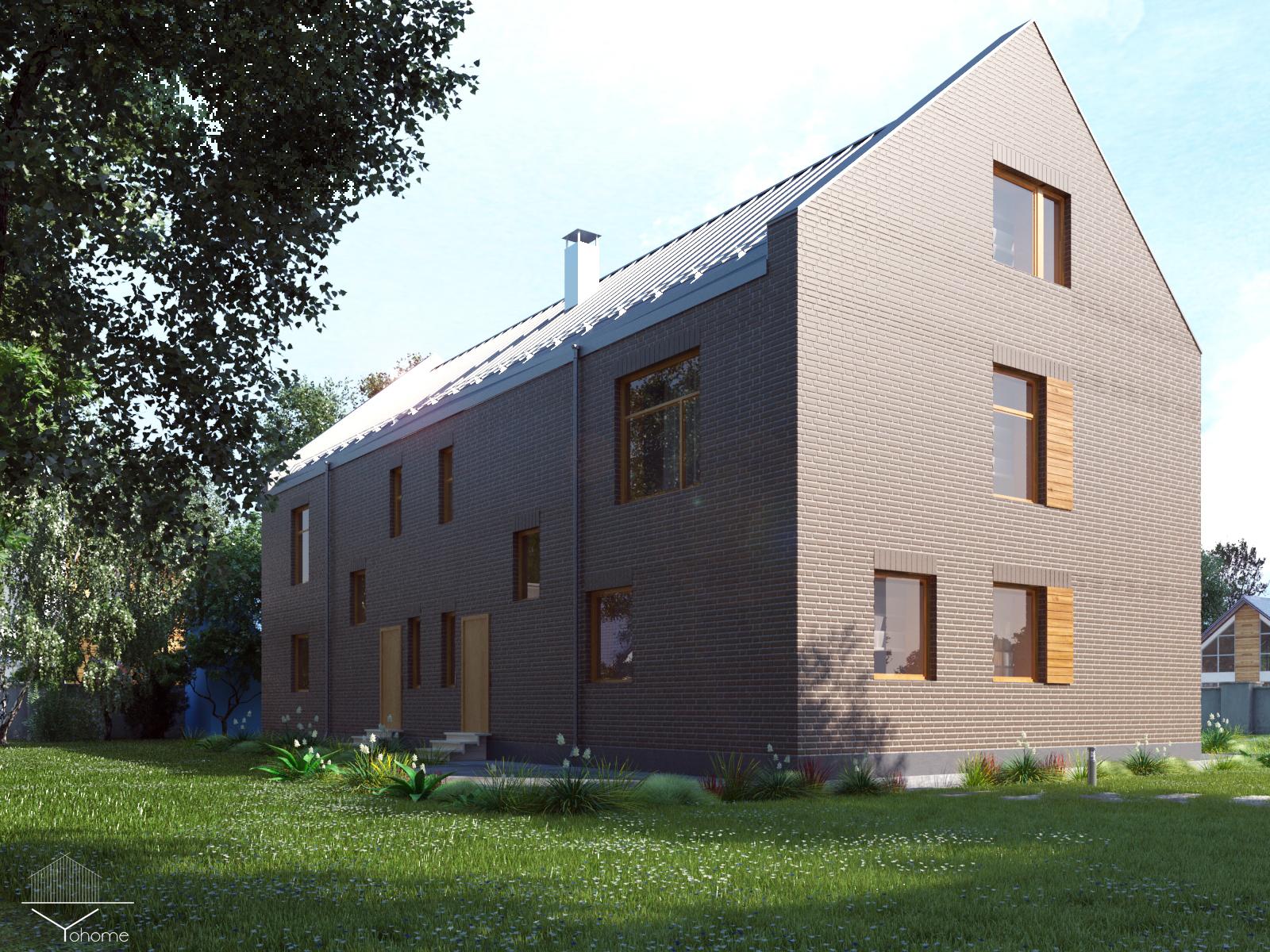 Дом на две семьи. фасад