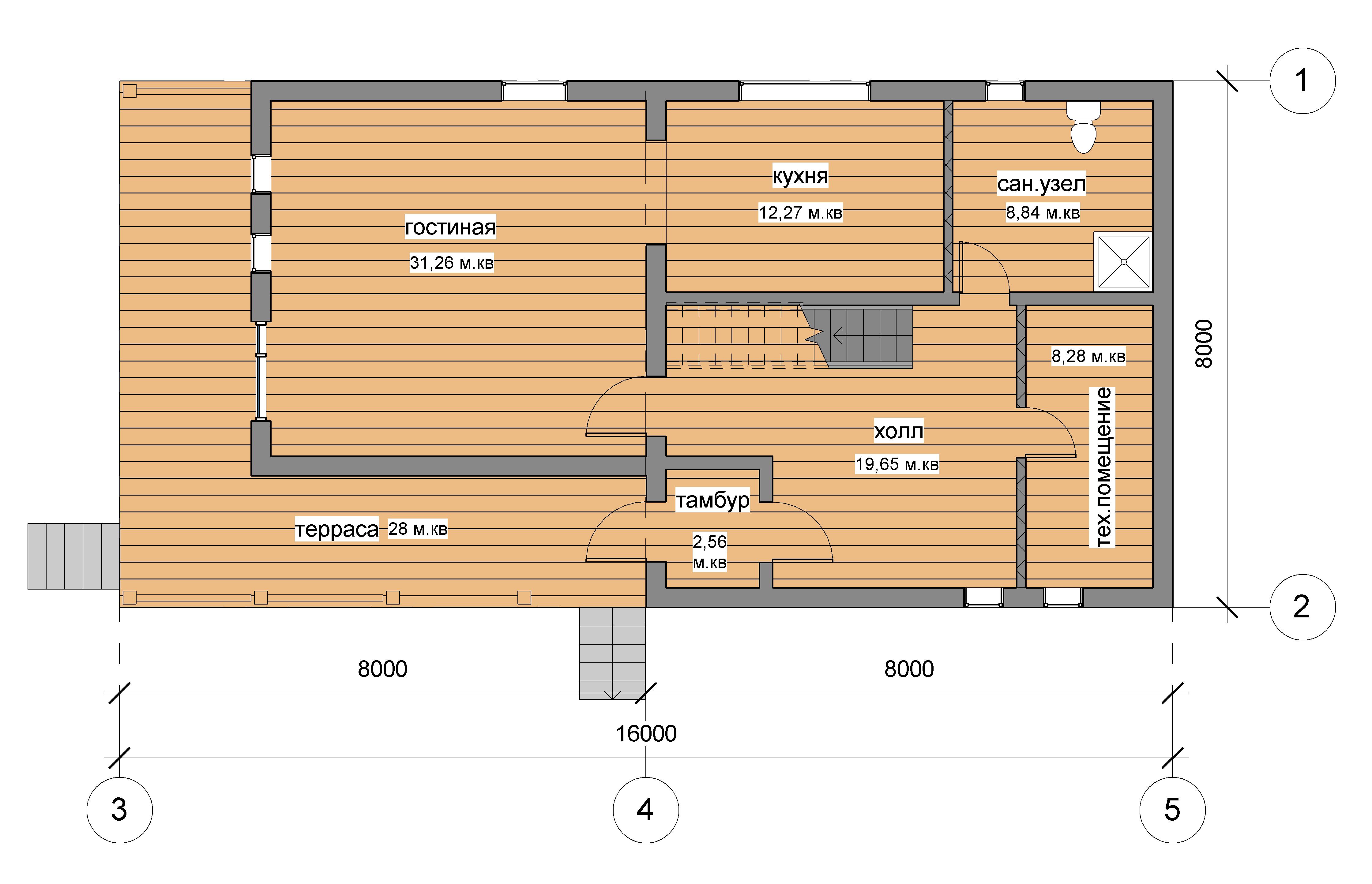 Реконструкция старого дома. план